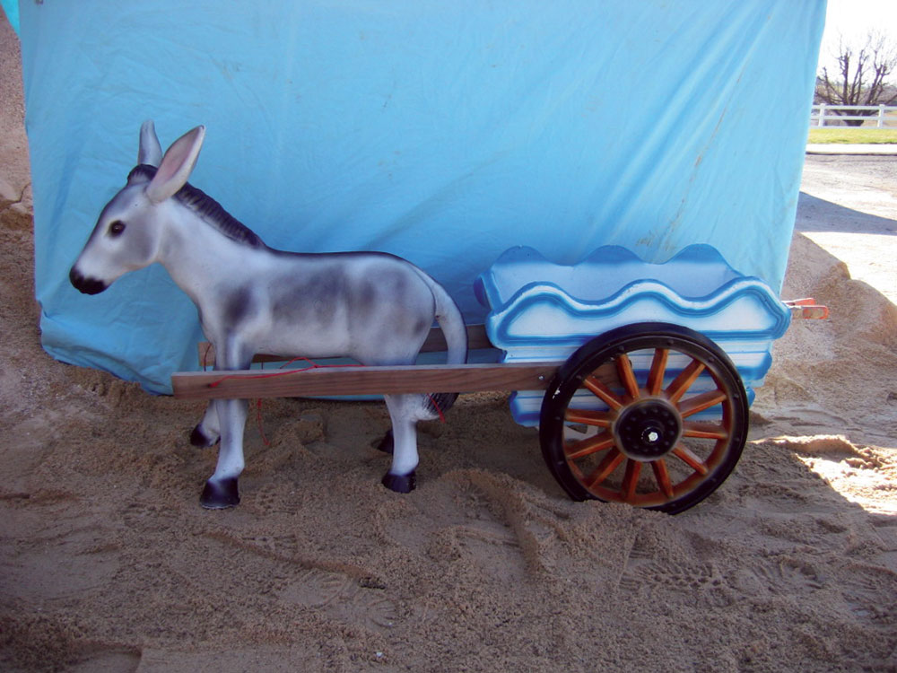 Harper S Statuary Water Gardens Donkey Cart
