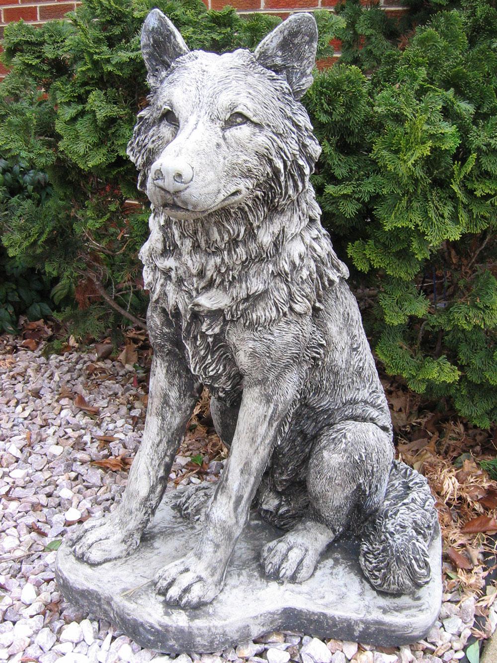 Harper S Statuary Amp Water Gardens Sitting Wolf